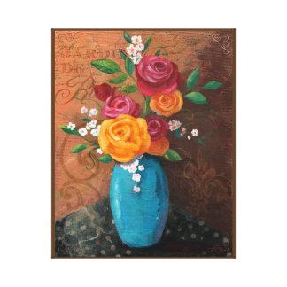 Still Life Floral, Roses,Jardin de Roses Canvas Print