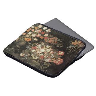 Still Life Flowers, Vintage Floral Baroque Laptop Sleeve