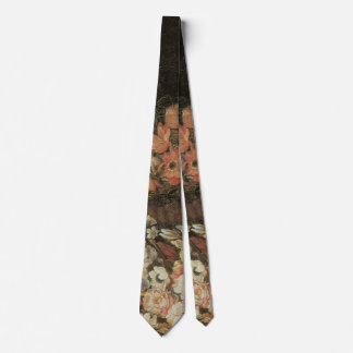 Still Life Flowers, Vintage Floral Baroque Tie