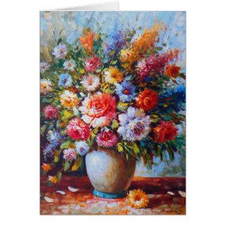 Still Life Flowers Watercolour Card