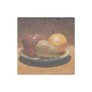 Still Life Fruit Marble Stone Magnet
