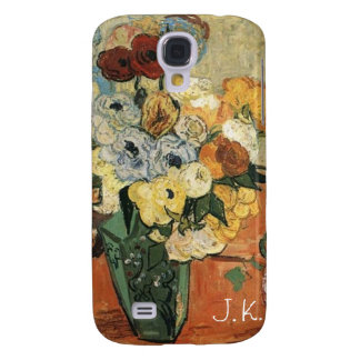 Still life -Japanese Vase with Roses and Anemones Galaxy S4 Cases