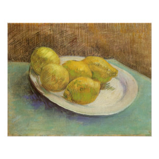 Still Life Lemons on a Plate by Vincent van Gogh Poster