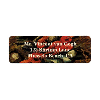 Still Life Mussels and Shrimp by Vincent van Gogh Return Address Label