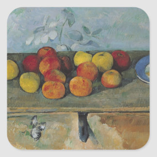 Still life of apples and biscuits, 1880-82 square sticker