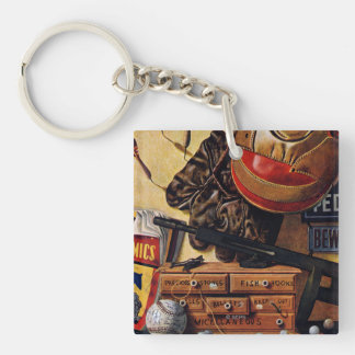 Still Life of Boys Toys Double-Sided Square Acrylic Keychain