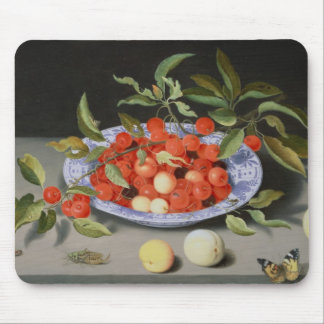 Still Life of Cherries and Peaches Mouse Pad