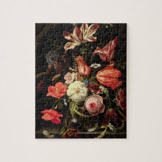 Still Life of Flowers on a Ledge Jigsaw Puzzle