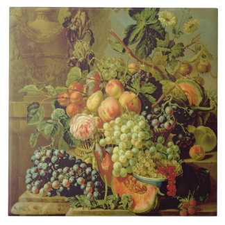 Still Life of Fruit Large Square Tile