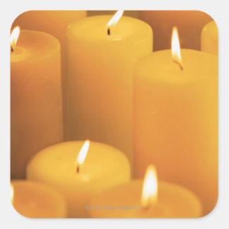 Still life of lighted candles sticker