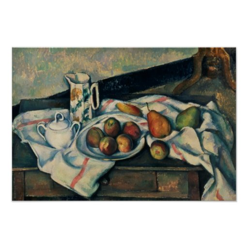 Still Life of Peaches and Pears, 1888-90 Poster