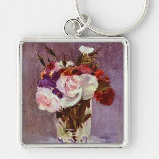 Still Life of Summer Flowers Keychain