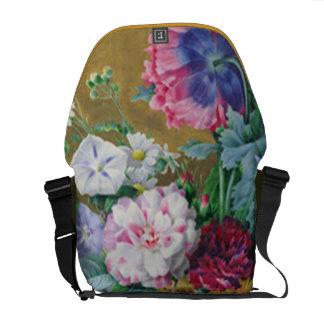 Still Life of Summer Flowers Messenger Bag