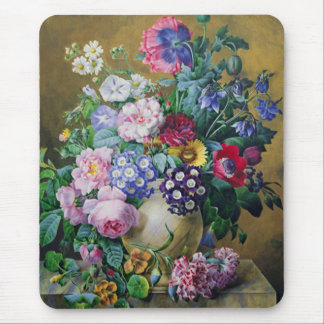 Still Life of Summer Flowers Mouse Pad