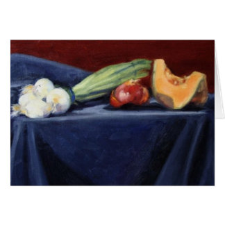 """Still Life on Blue Velvet"" Card"