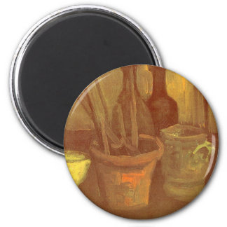 Still Life Paintbrushes in a Pot Vincent van Gogh 6 Cm Round Magnet