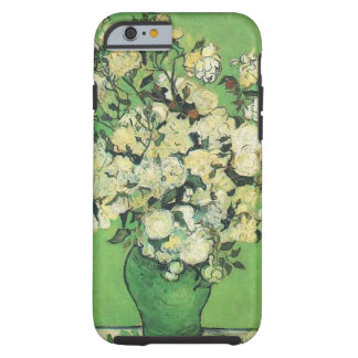 Still life - Pink Roses in a Vase Vincent an Gogh, Tough iPhone 6 Case