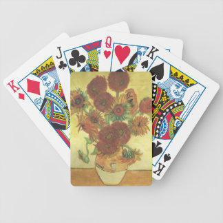 Still Life: Sunflowers Bicycle Playing Cards