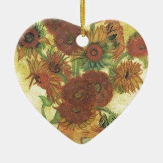 Still Life: Sunflowers Ceramic Ornament