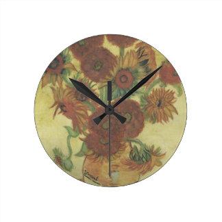 Still Life: Sunflowers Clock