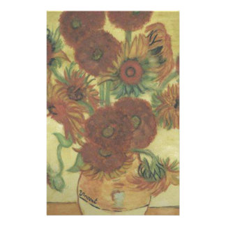 Still Life: Sunflowers Personalized Stationery