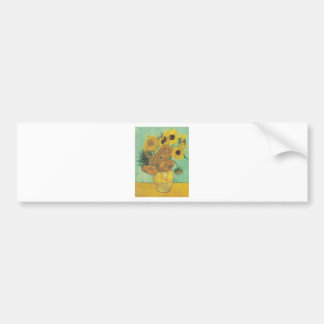 Still Life: Sunflowers - Vincent van Gogh Bumper Sticker