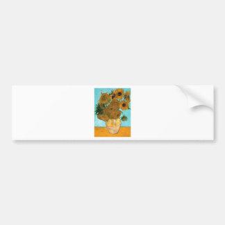 Still Life: Sunflowers - Vincent van Gogh Bumper Sticker