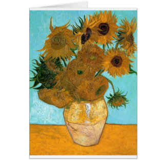 Still Life: Sunflowers - Vincent van Gogh Card