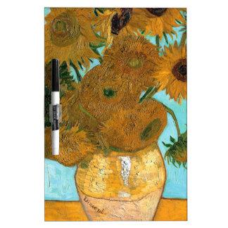 Still Life: Sunflowers - Vincent van Gogh Dry Erase Board