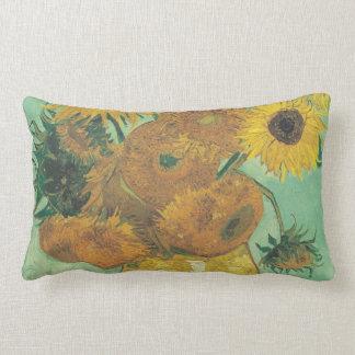 Still Life: Sunflowers - Vincent van Gogh Lumbar Pillow