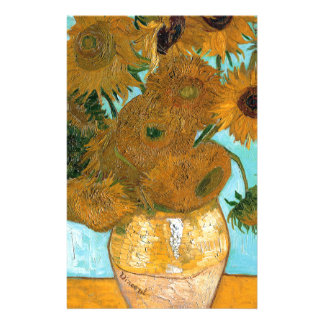 Still Life: Sunflowers - Vincent van Gogh Personalized Stationery