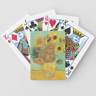 Still Life: Sunflowers - Vincent van Gogh Poker Deck