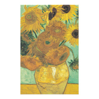 Still Life: Sunflowers - Vincent van Gogh Stationery