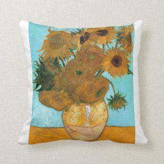 Still Life: Sunflowers - Vincent van Gogh Throw Pillow