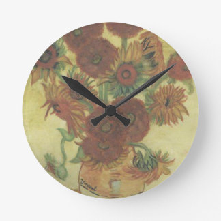 Still Life: Sunflowers Wall Clock