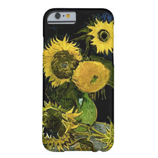 Still Life Vase Five Sunflowers Van Gogh Fine Art Barely There iPhone 6 Case