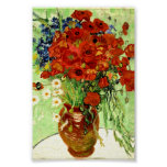 Still Life, Vase with Daisies and Poppies (1890) Poster