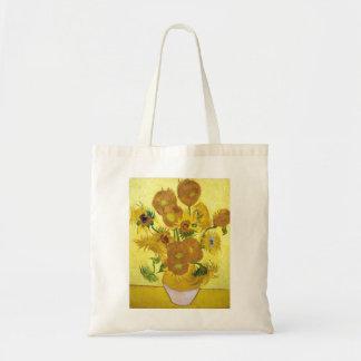 Still Life - Vase with Fifteen Sunflowers van gogh Bags