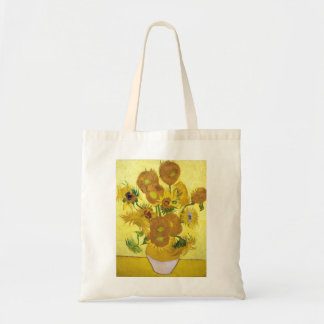 Still Life - Vase with Fifteen Sunflowers van gogh Bags