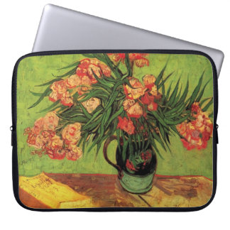 Still Life Vase with Oleanders and Books, Van Gogh Laptop Sleeve