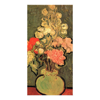 Still Life Vase with Rose-Mallows by van Gogh Photo Cards