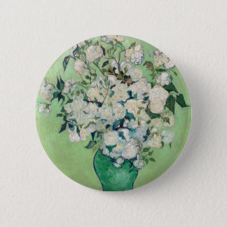 Still Life: Vase with Roses - Vincent Van Gogh 6 Cm Round Badge