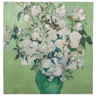 Still Life: Vase with Roses - Vincent Van Gogh Napkin