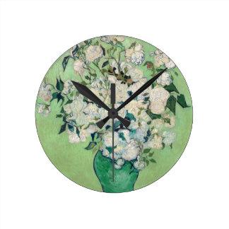 Still Life: Vase with Roses - Vincent Van Gogh Wallclocks
