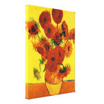 Still Life Vase with Sunflowers by van Gogh Stretched Canvas Print