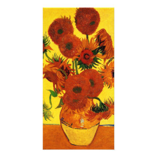 Still Life Vase with Sunflowers by van Gogh Picture Card