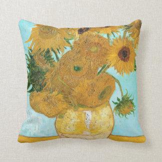 Still Life - Vase with Twelve Sunflowers van Gogh Cushion