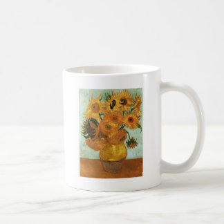 Still life - Vase with twelve Sunflowers, Vincent Coffee Mugs