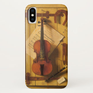 Still Life Violin and Music by William Harnett iPhone X Case
