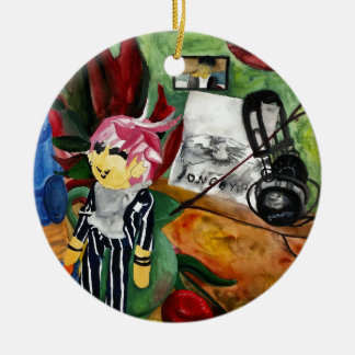 Still Life Watercolor 2016 Ceramic Ornament